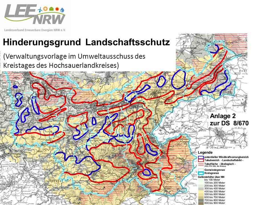 Hinderungsgrund Landschaftsschutz