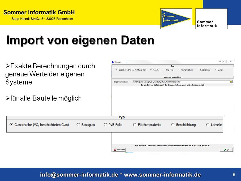 Import von eigenen Daten