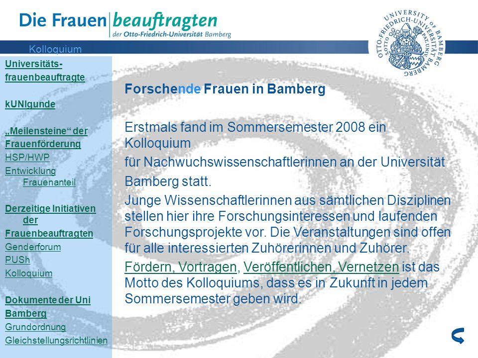 Forschende Frauen in Bamberg