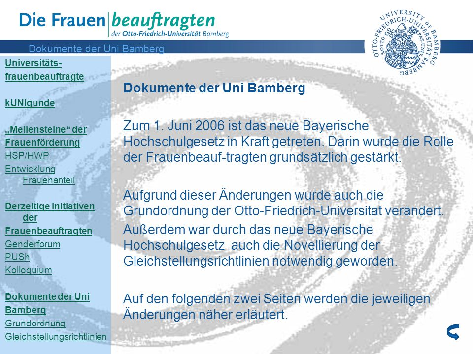 Dokumente der Uni Bamberg