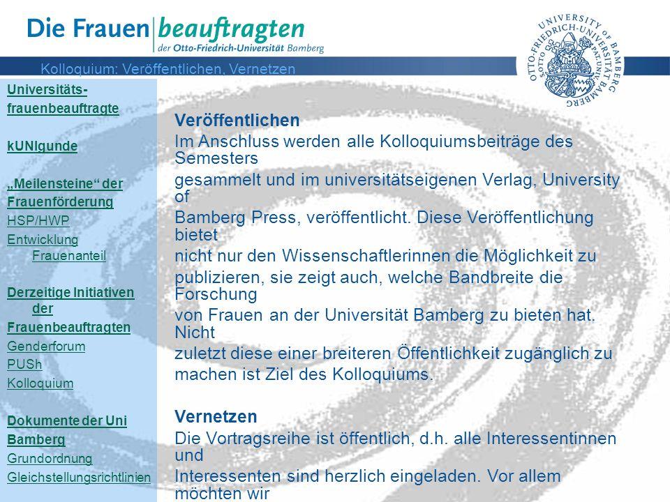 Kolloquium: Veröffentlichen, Vernetzen