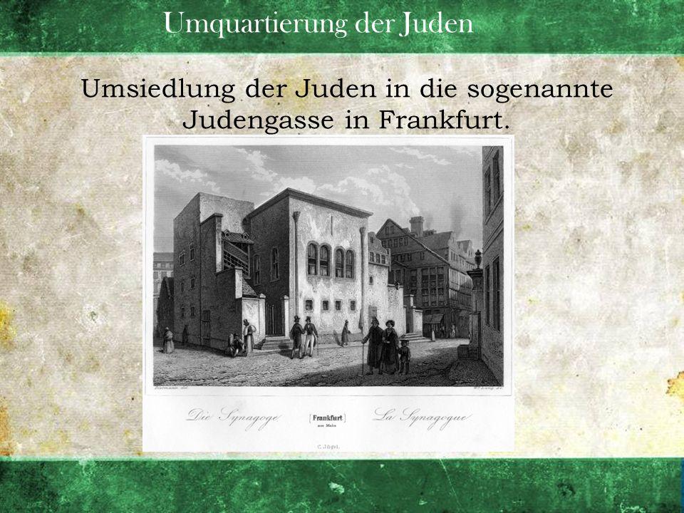 Umquartierung der Juden