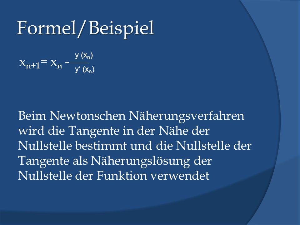 Formel/Beispiel y (xn)