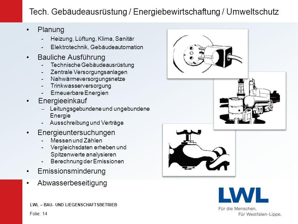 Tech. Gebäudeausrüstung / Energiebewirtschaftung / Umweltschutz