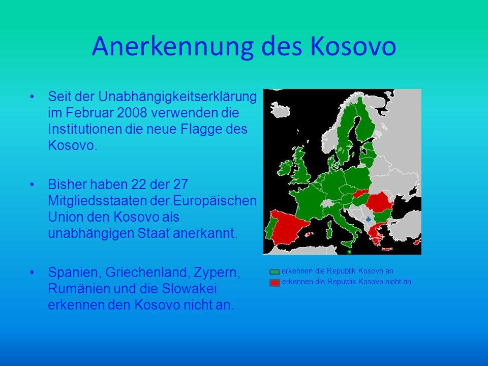 Anerkennung des Kosovo