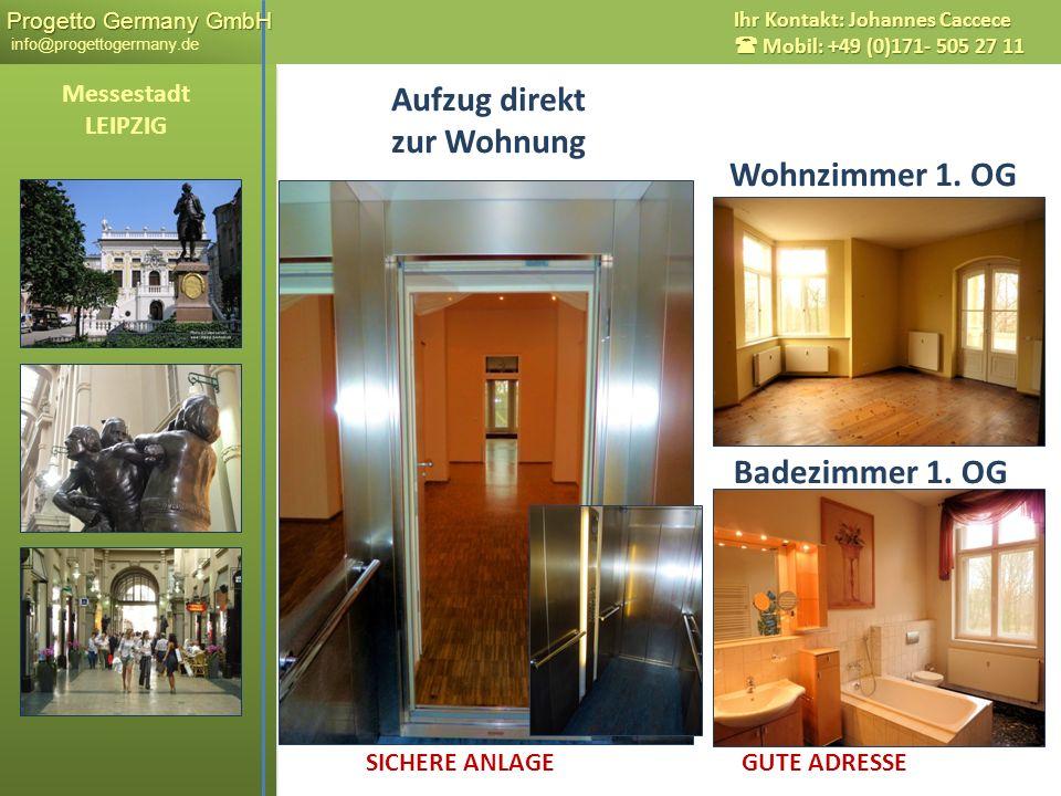 Aufzug direkt zur Wohnung