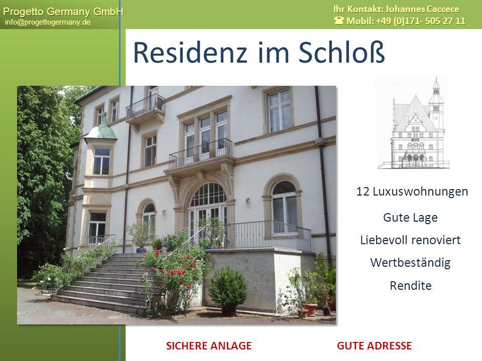 Residenz im Schloß x 12 Luxuswohnungen Gute Lage Liebevoll renoviert