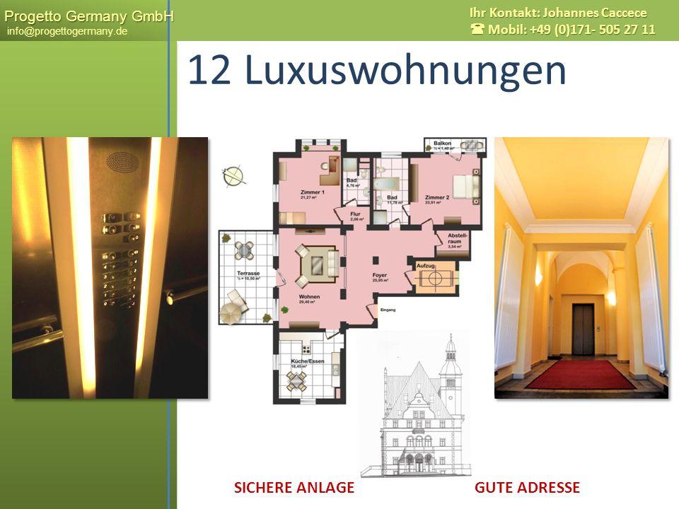 12 Luxuswohnungen