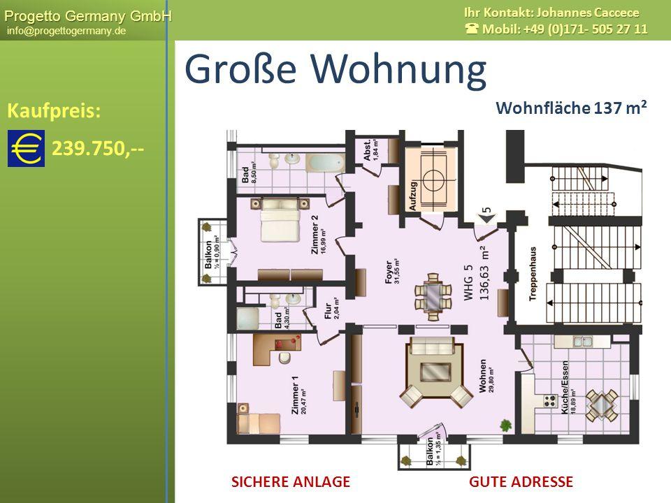 Große Wohnung Kaufpreis: 239.750,-- Wohnfläche 137 m²