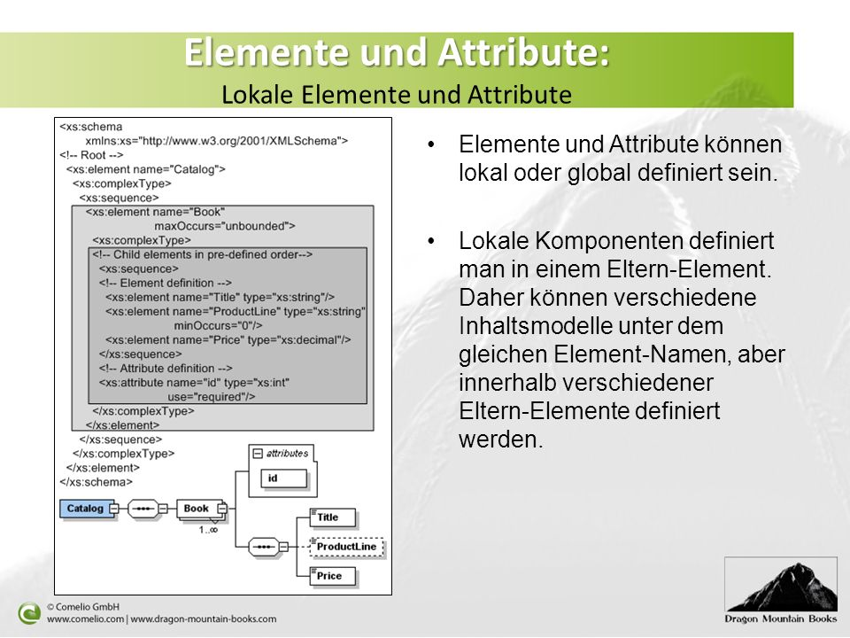Elemente und Attribute: Lokale Elemente und Attribute