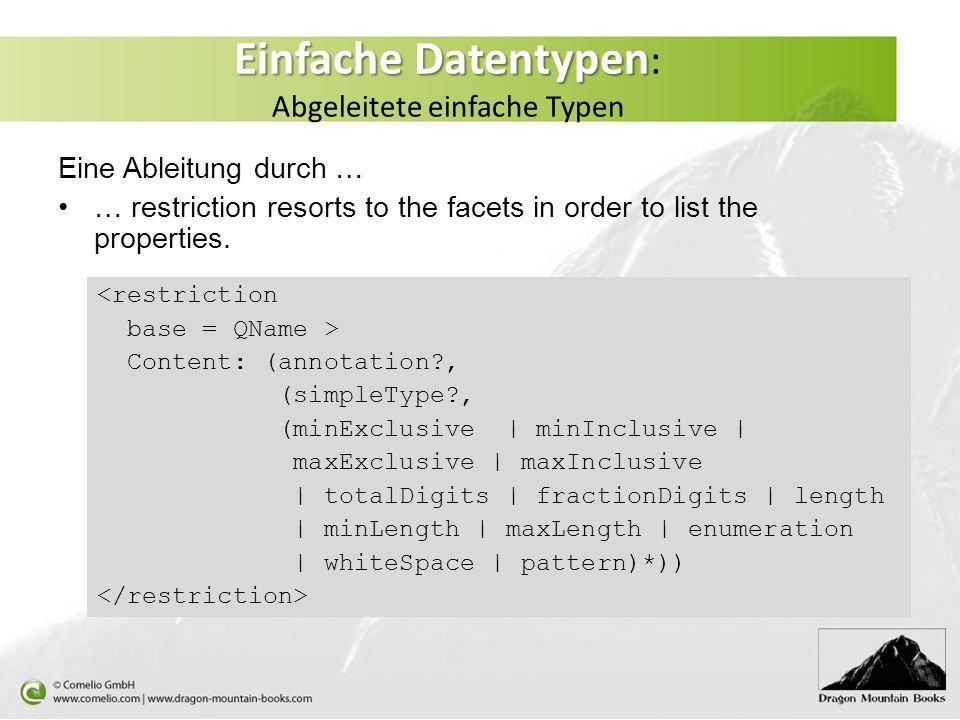 Einfache Datentypen: Abgeleitete einfache Typen