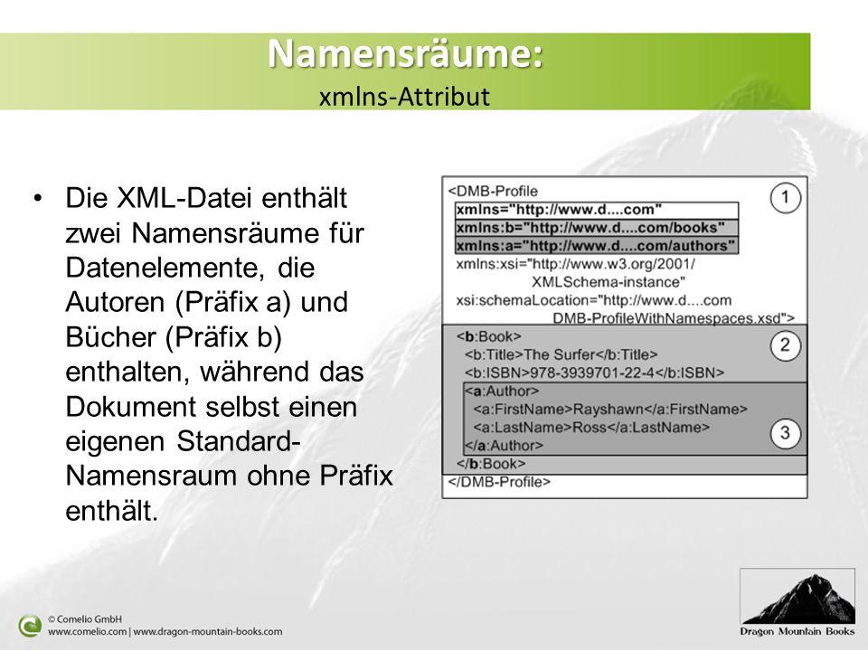 Namensräume: xmlns-Attribut