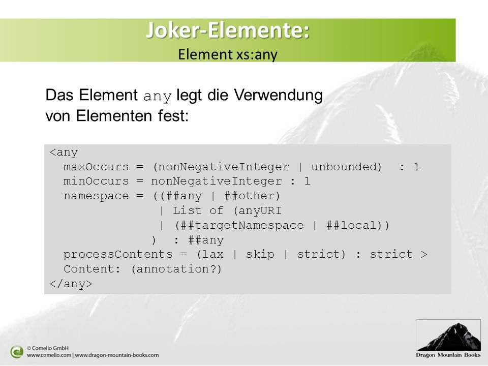 Joker-Elemente: Element xs:any