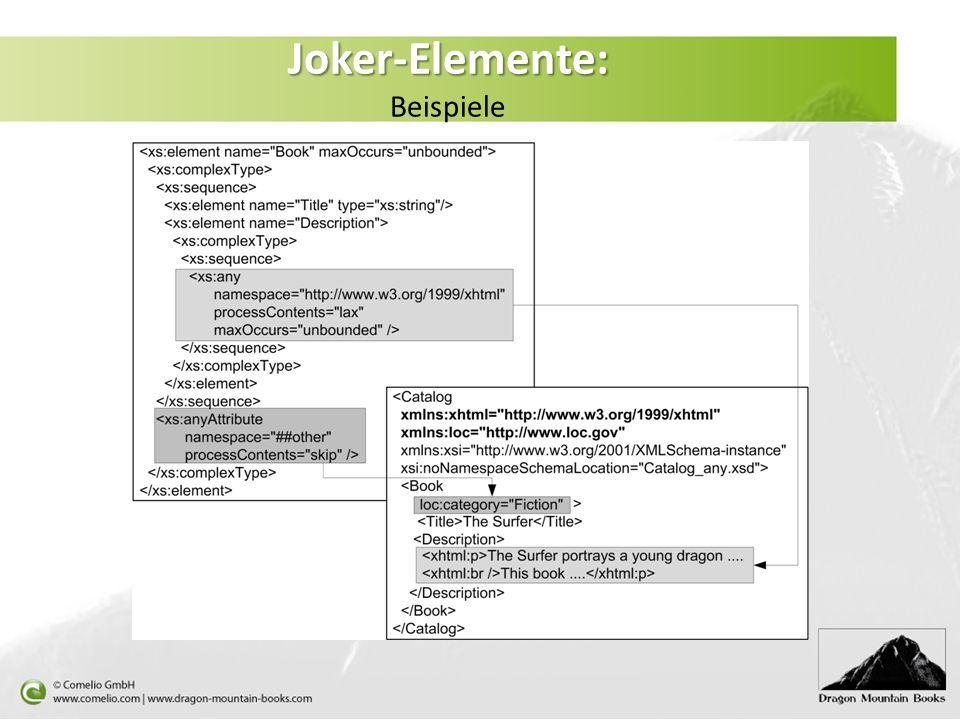 Joker-Elemente: Beispiele