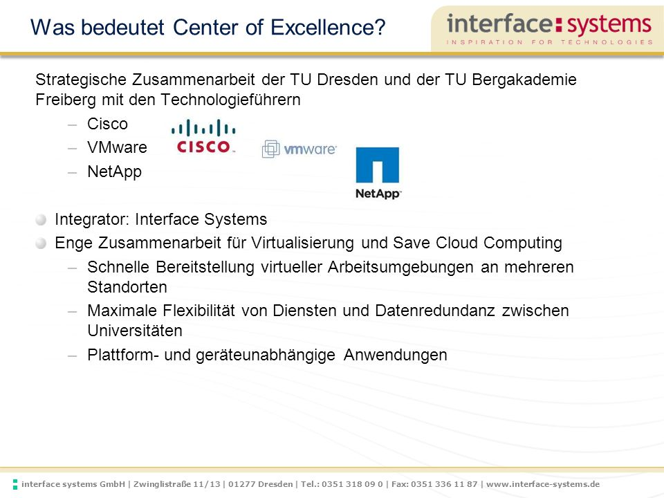 Was bedeutet Center of Excellence