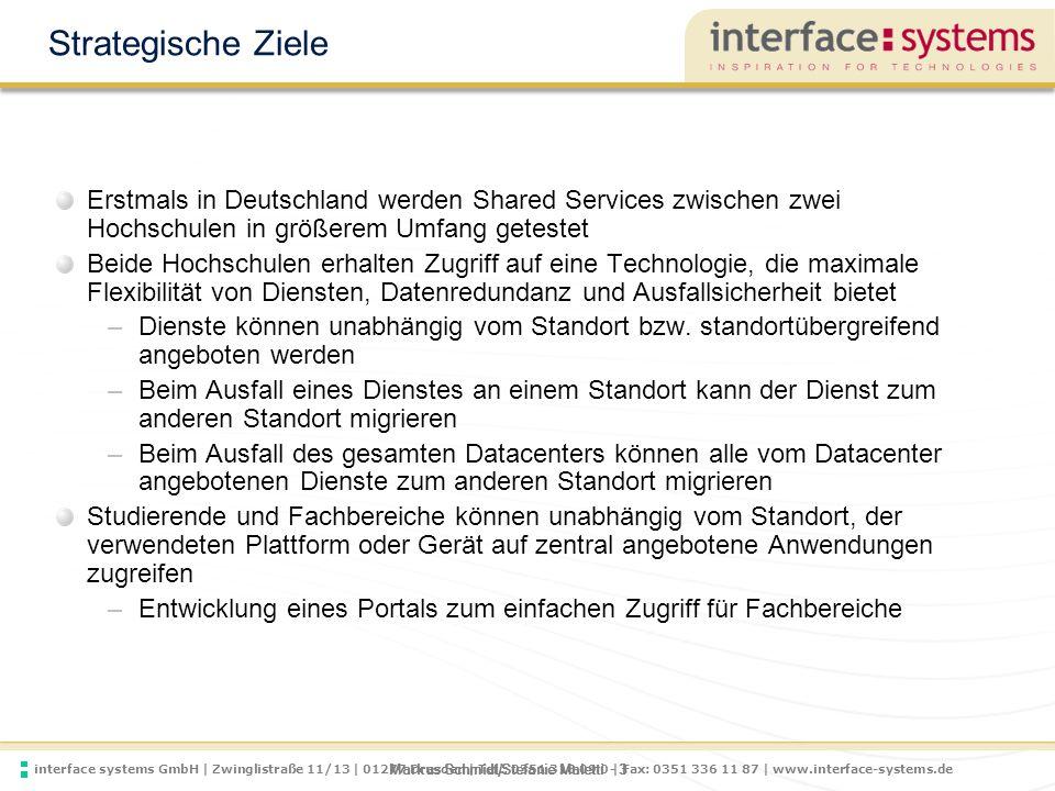 Strategische Ziele Erstmals in Deutschland werden Shared Services zwischen zwei Hochschulen in größerem Umfang getestet.