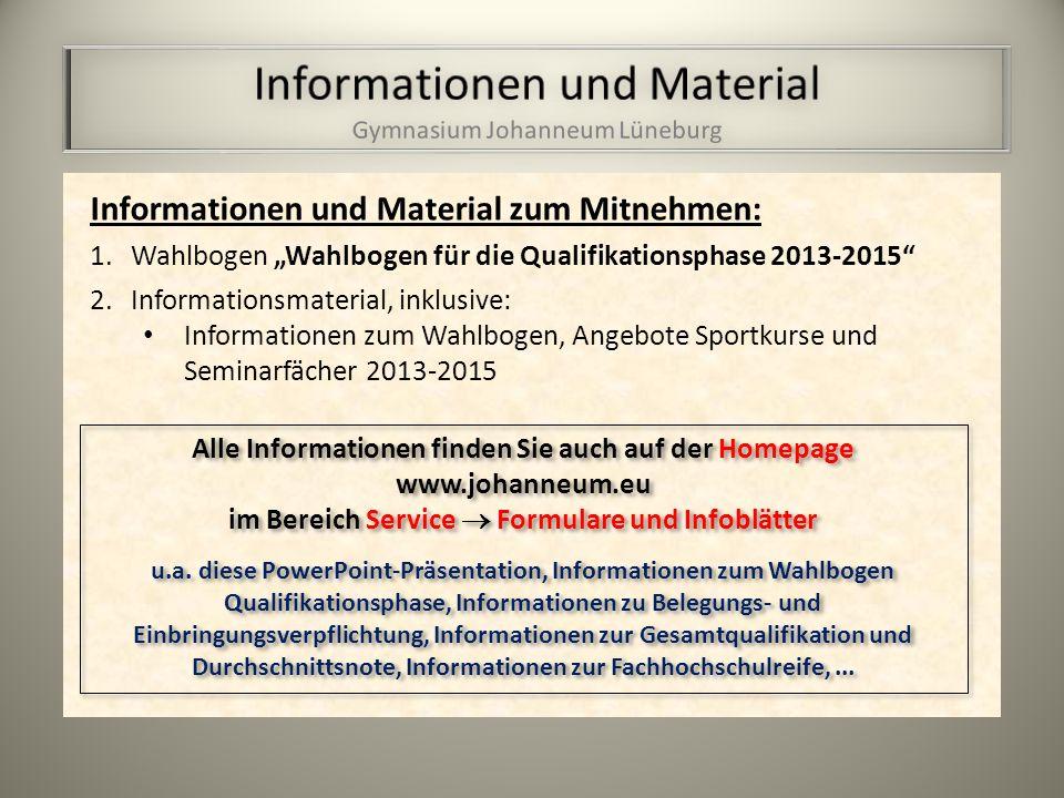 Informationen und Material