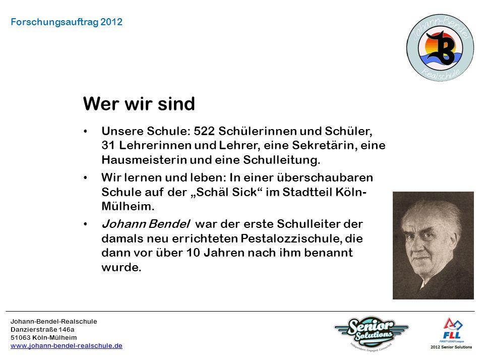 Forschungsauftrag 2012 Wer wir sind.