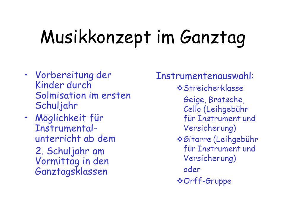 Musikkonzept im Ganztag