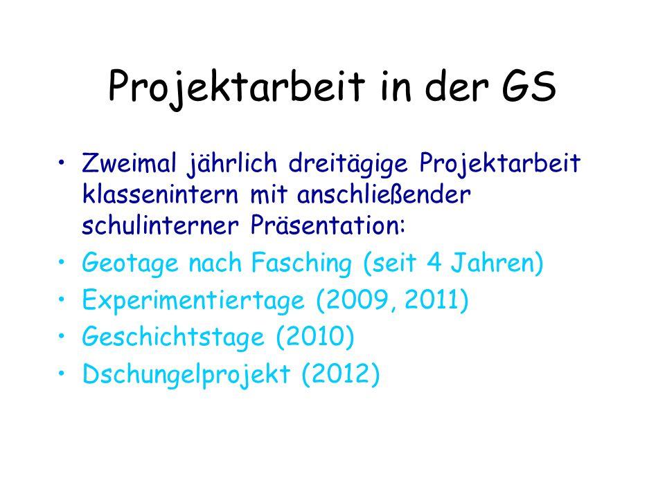 Projektarbeit in der GS