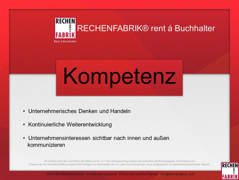 Kompetenz RECHENFABRIK® rent á Buchhalter