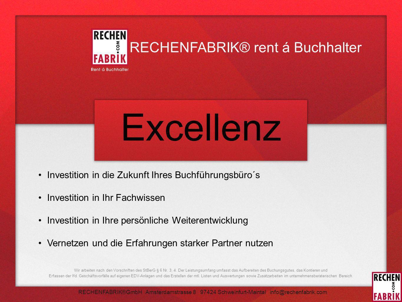 Excellenz RECHENFABRIK® rent á Buchhalter