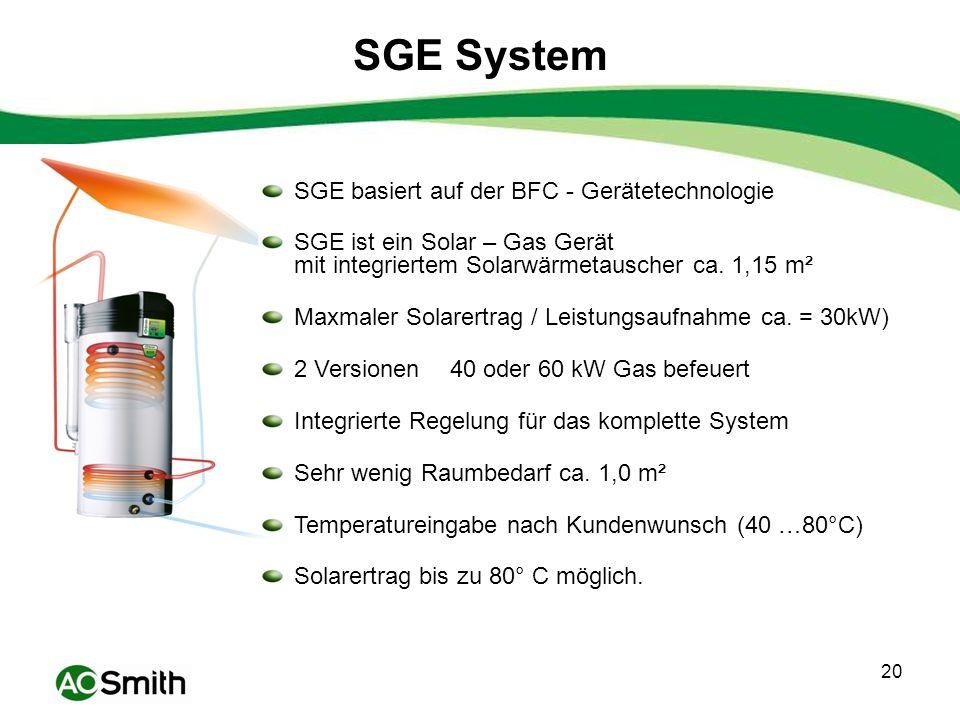 SGE System SGE basiert auf der BFC - Gerätetechnologie