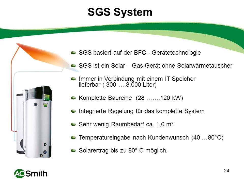 SGS System SGS basiert auf der BFC - Gerätetechnologie