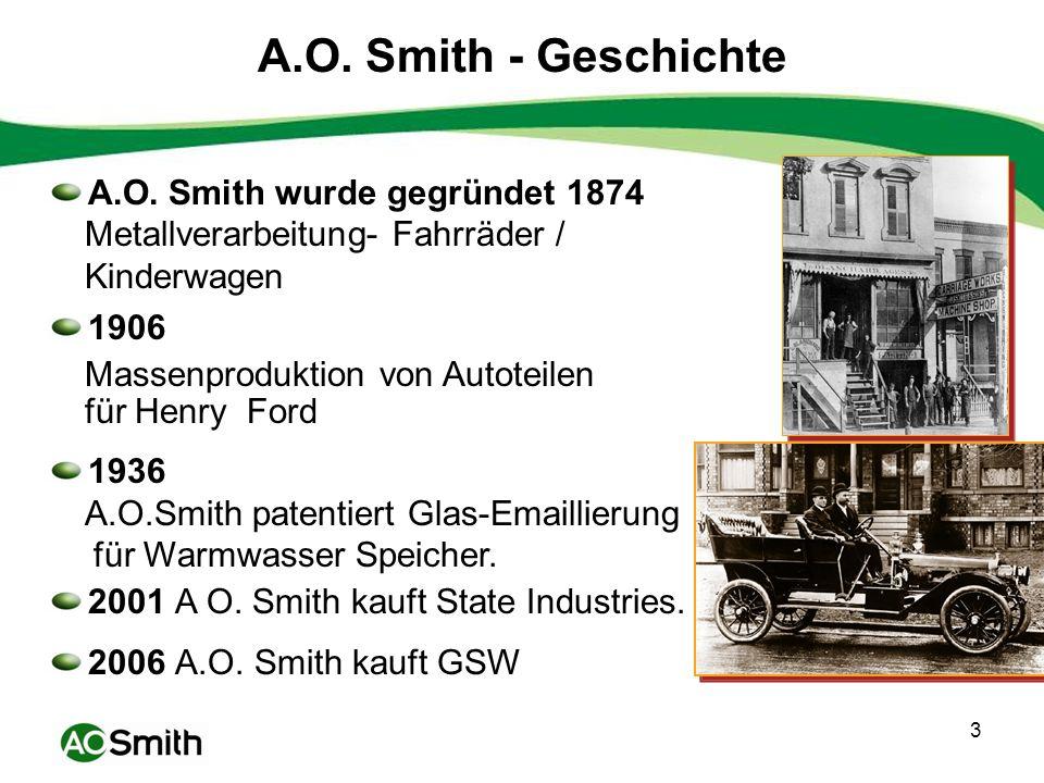 A.O. Smith - Geschichte A.O. Smith wurde gegründet 1874
