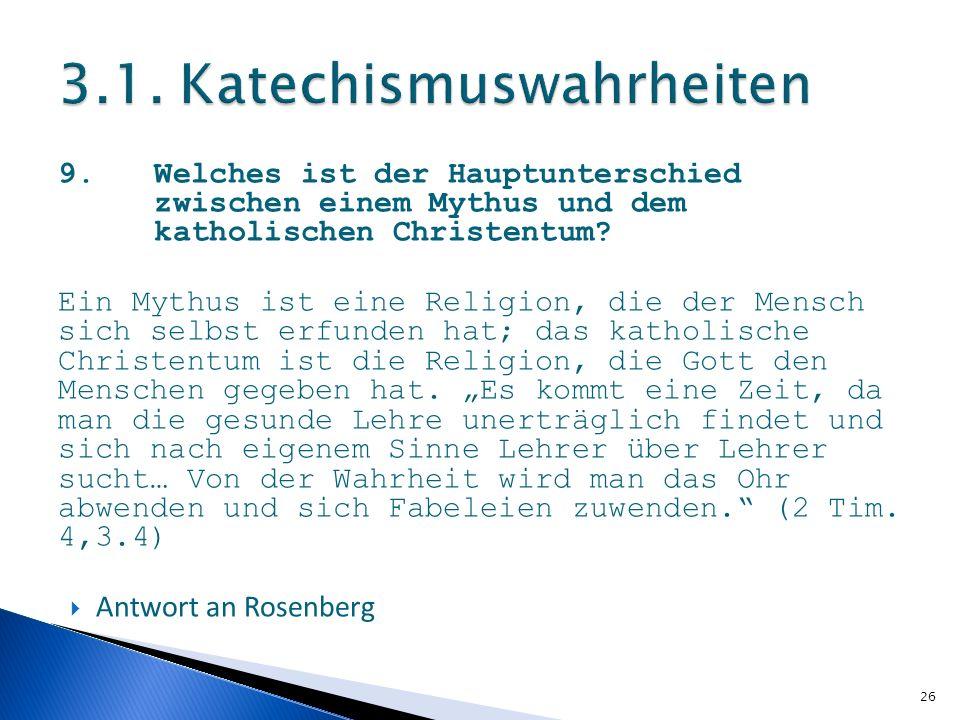 3.1. Katechismuswahrheiten