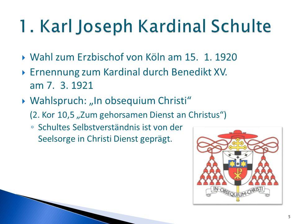 1. Karl Joseph Kardinal Schulte