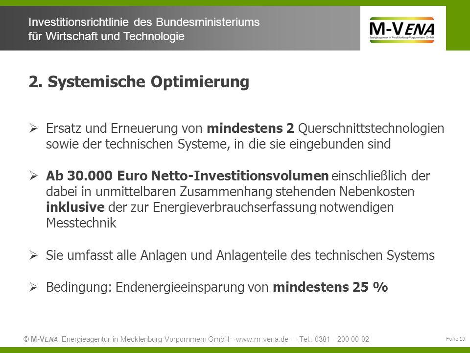 2. Systemische Optimierung
