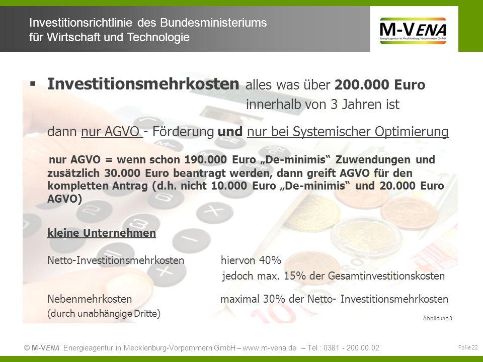 Investitionsmehrkosten alles was über 200.000 Euro