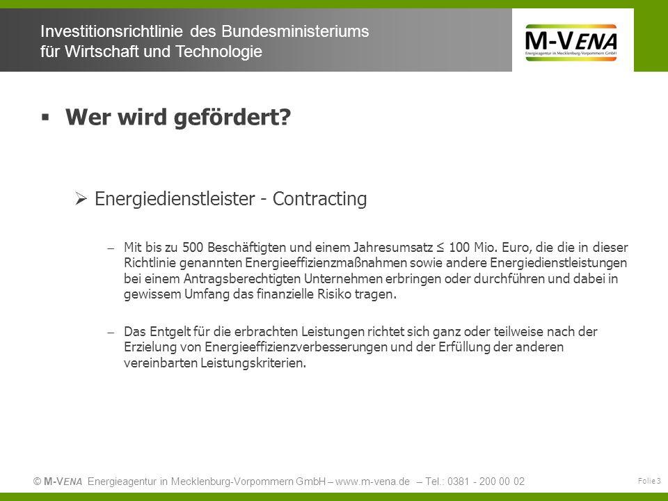 Wer wird gefördert Energiedienstleister - Contracting
