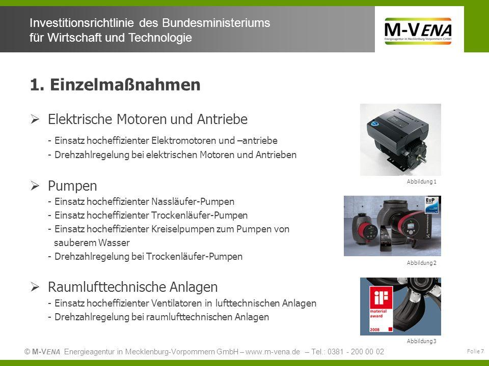 1. Einzelmaßnahmen Elektrische Motoren und Antriebe