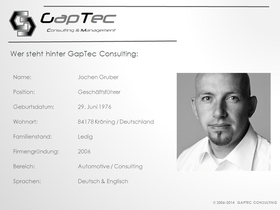 Wer steht hinter GapTec Consulting: