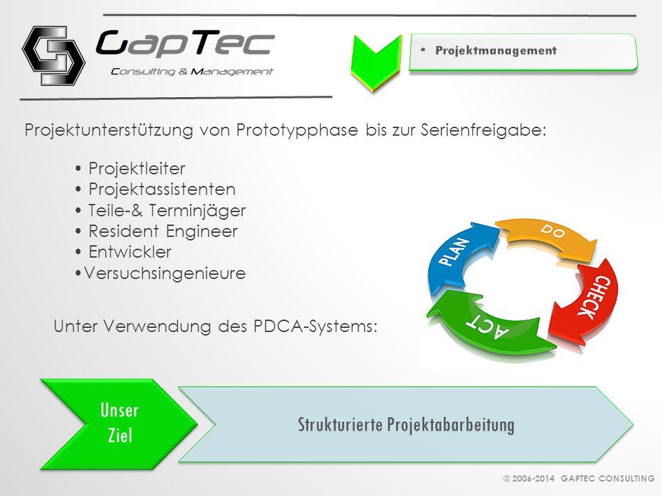 Strukturierte Projektabarbeitung