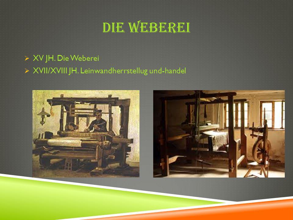 Die Weberei XV JH. Die Weberei