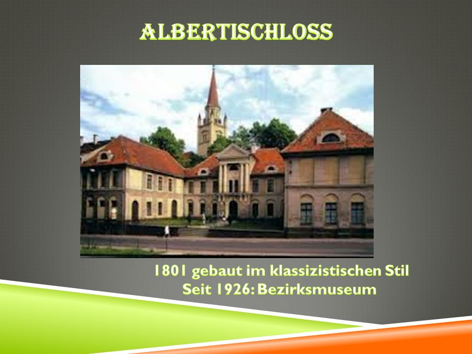 1801 gebaut im klassizistischen Stil