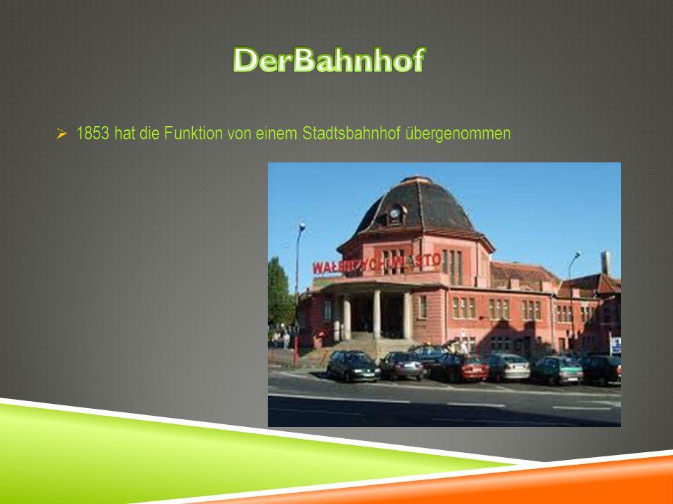DerBahnhof 1853 hat die Funktion von einem Stadtsbahnhof übergenommen