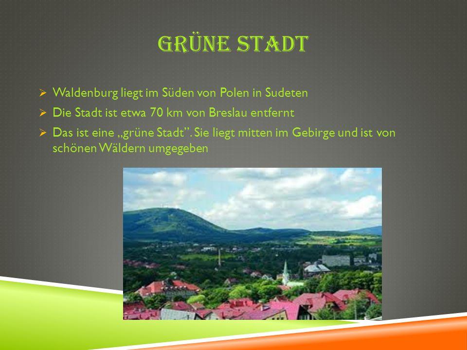GrÜne Stadt Waldenburg liegt im Süden von Polen in Sudeten