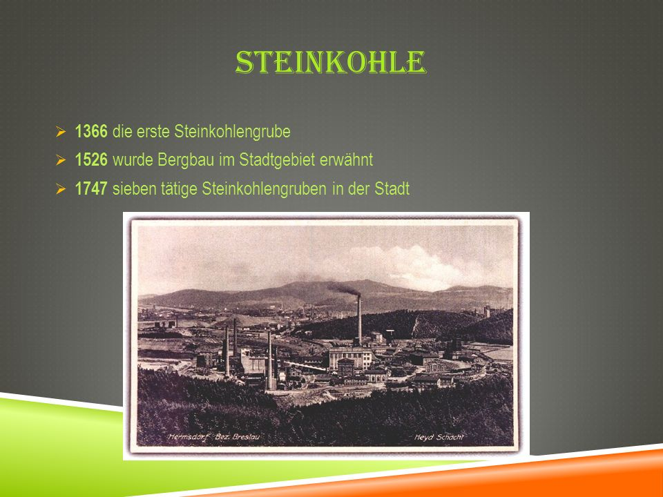 Steinkohle 1366 die erste Steinkohlengrube