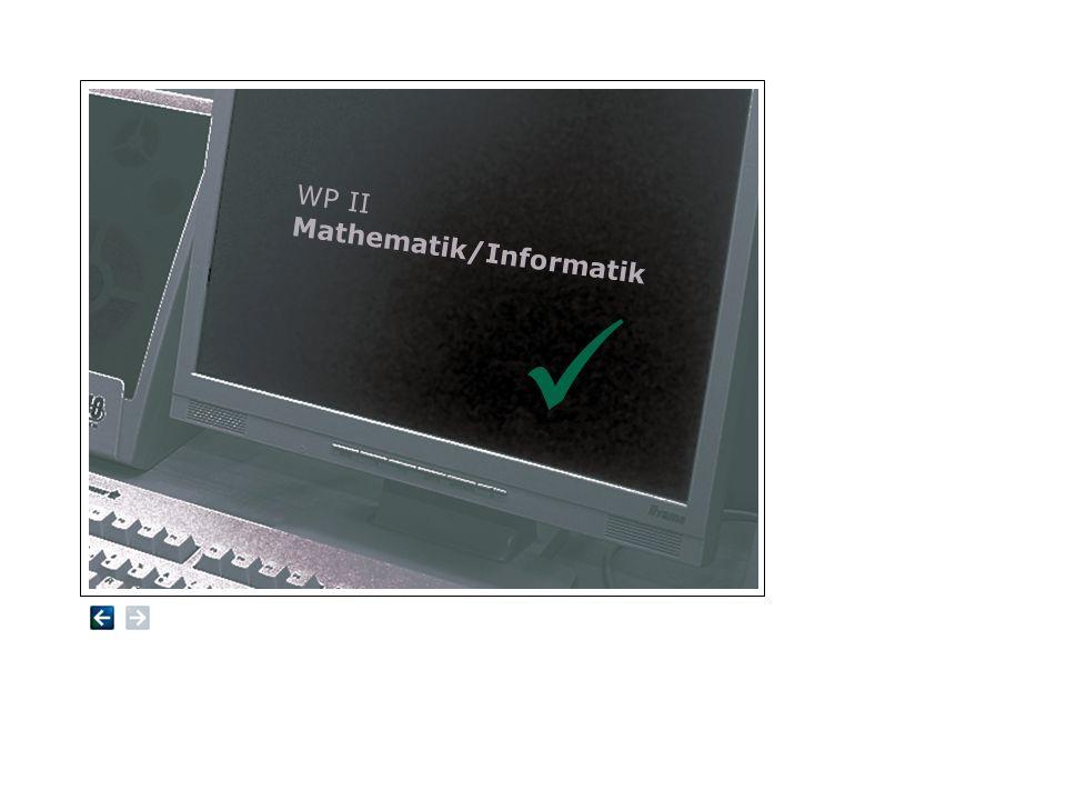 WP II Mathematik/Informatik