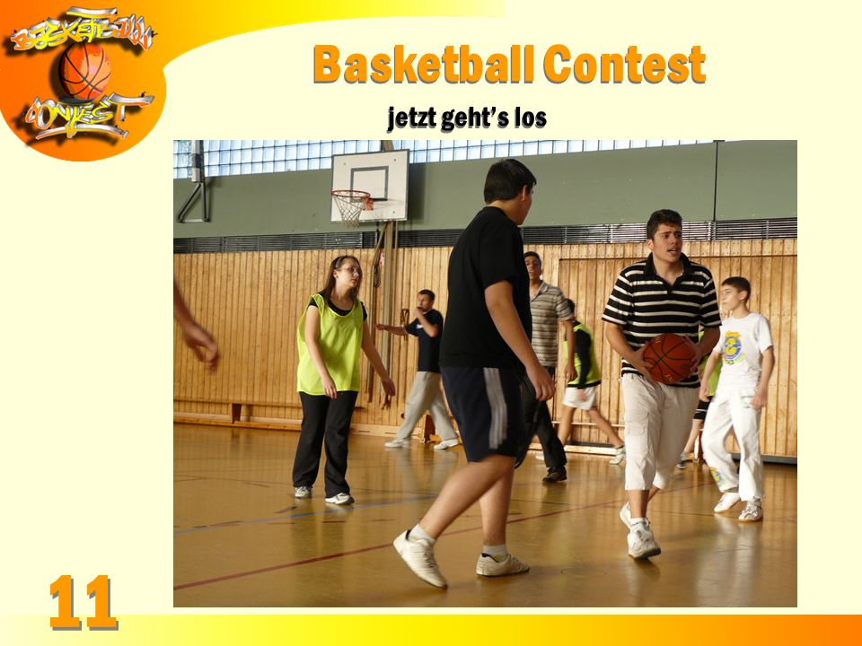 Basketball Contest jetzt geht's los 11