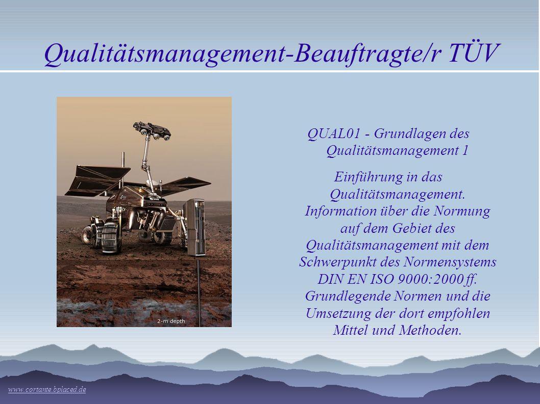 Qualitätsmanagement-Beauftragte/r TÜV