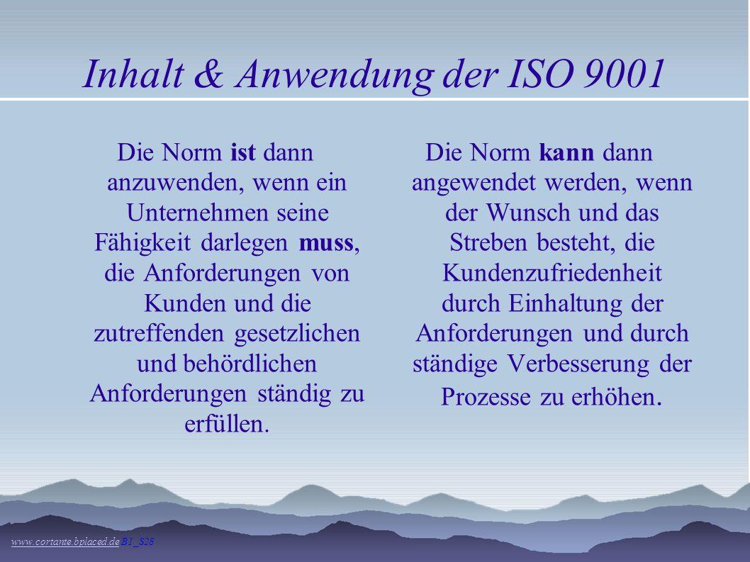 Inhalt & Anwendung der ISO 9001