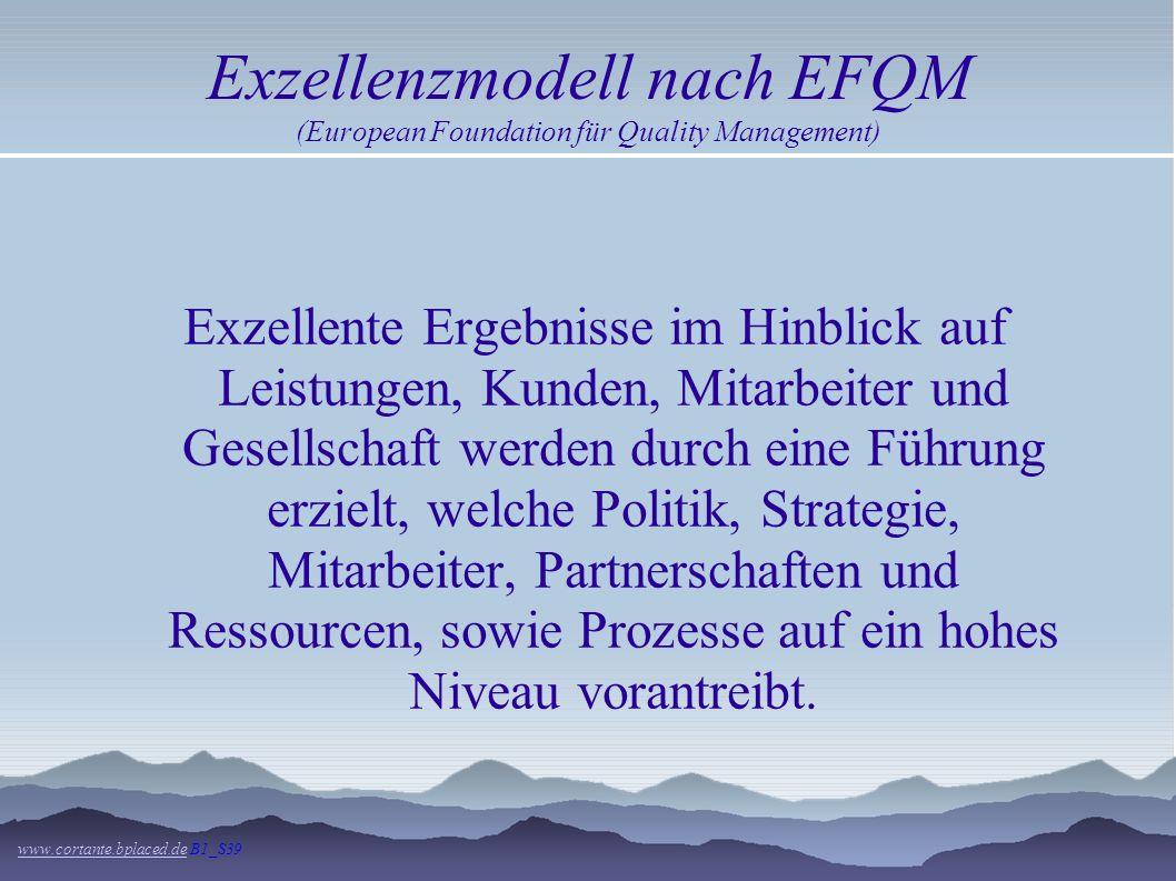 Exzellenzmodell nach EFQM (European Foundation für Quality Management)