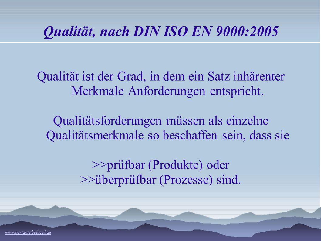 Qualität, nach DIN ISO EN 9000:2005