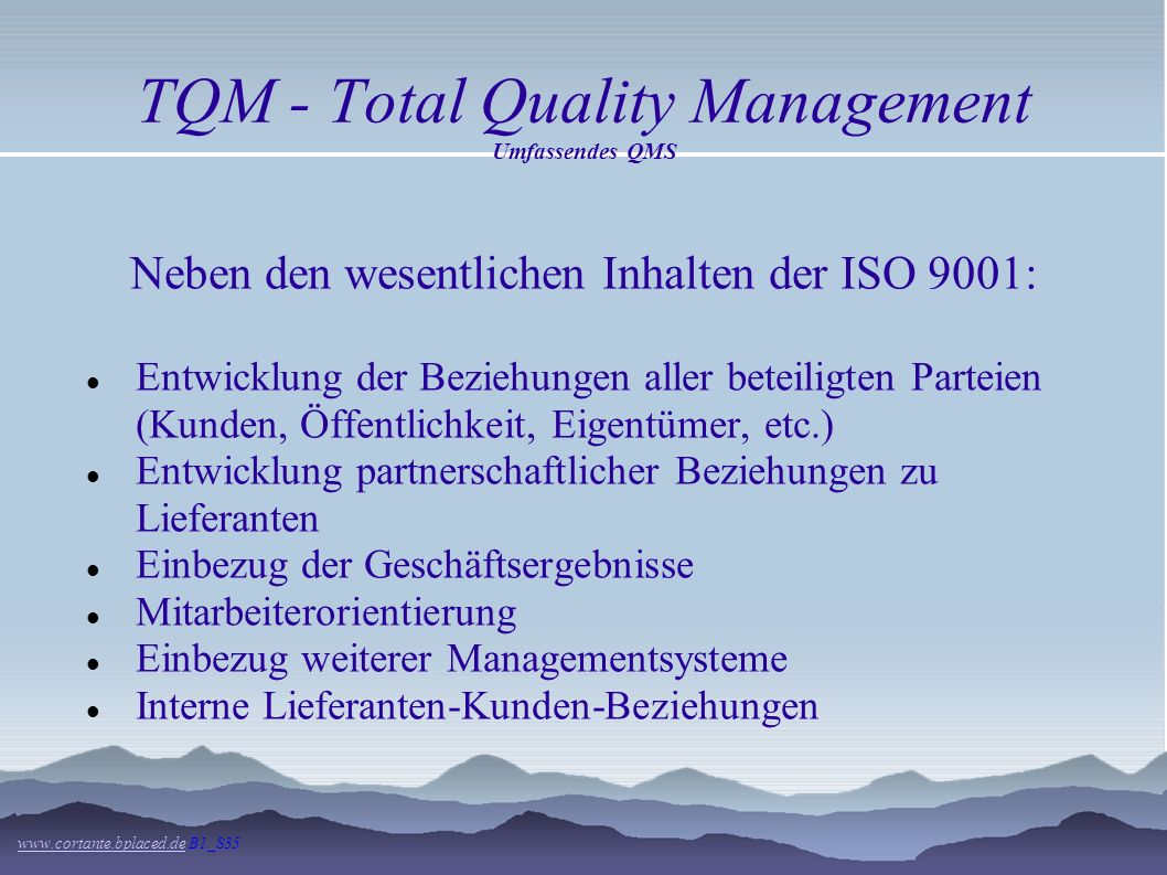TQM - Total Quality Management Umfassendes QMS