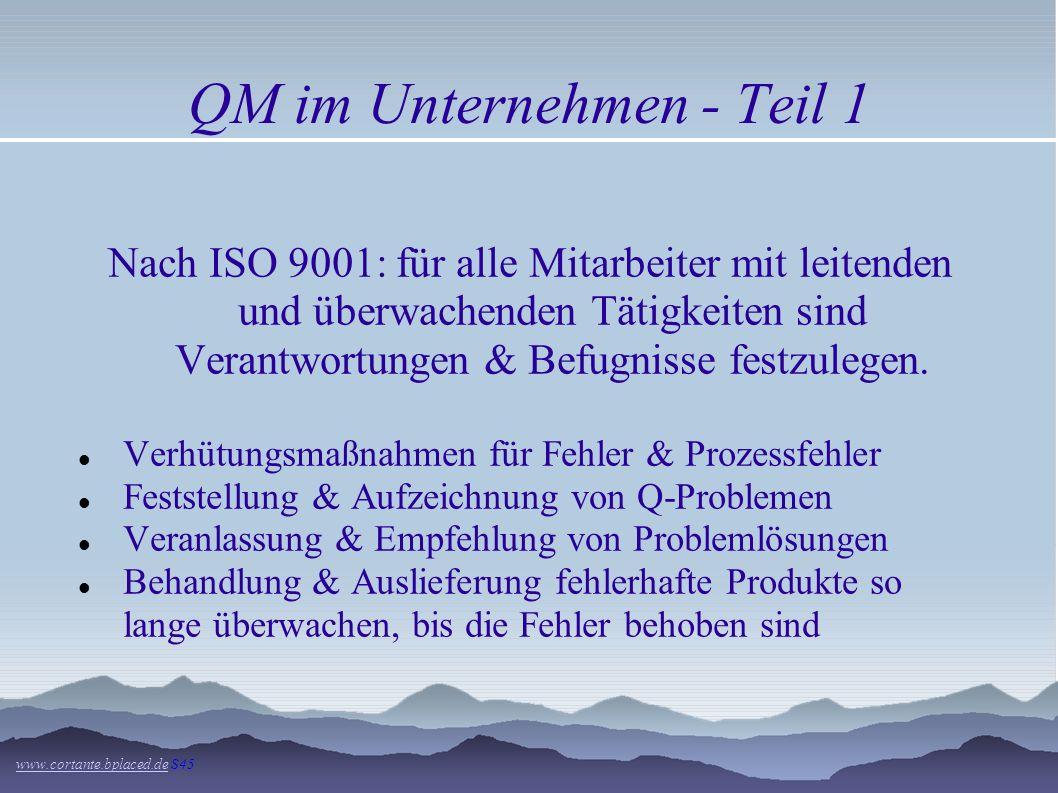 QM im Unternehmen - Teil 1